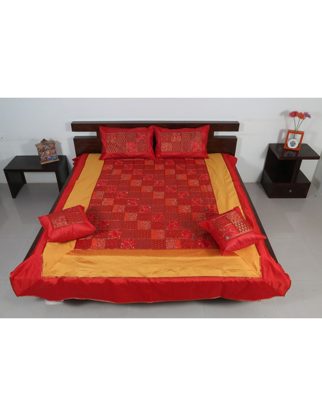 Red And Black Silk Bedding Home Design Ture
